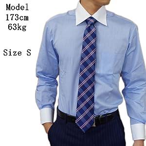 (ブルーム) BLOOM ジーベック XEBEC 長袖ワイシャツ クレリックyシャツ S/M/L/LL/3L/4L 2柄 形態安定加工 ブルー グレー