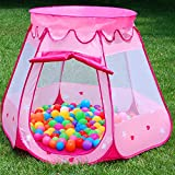 BATTOP Pink Princess Tent Indoor and Outdoor 1 to 8 Years Old Children Game Play Toys Tent Dolls and Balls Not Included
