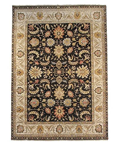 F.J. Kashanian One-of-a-Kind Hand-Knotted Oushak Rug, Black/Ivory, 8′ x 10′