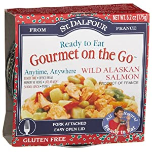 St. Dalfour Gourmet On The Go, Ready to Eat  Wild Alaskan Salmon, 6.2-Ounce Tins (Pack of 6)
