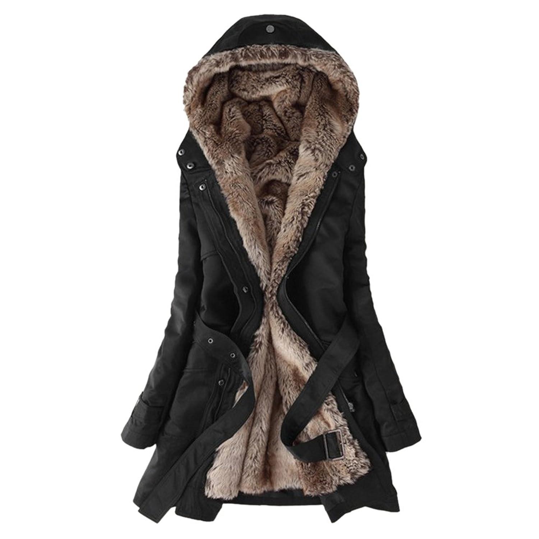 Hee Grand Damen Thicken Fleece Kunstpelz Warmen Wintermantel bestellen