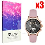 Lamshaw for Michael Kors Runway Screen Protector, 9H Tempered Glass Screen Protector for Michael Kors Access Runway Smartwatch (3 Pack) (Color: 3 pack)