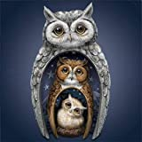 Dylan's cabin DIY 5D Diamond Painting Kits for Adults,Full Drill Embroidery Paint with Diamond for Home Wall Decor(owl/16x16inch) (Color: owl)