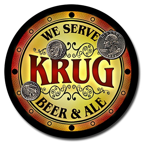 krug-family-name-beer-and-ale-rubber-drink-coasters-set-of-4