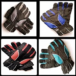 AVB®-Genuine Accessory- Warm Winter Riding Gloves -20 Temperature Snow proof Protective Cycling Byke Bike Motorcycle Glove for Men, Boys, Male Universal Size( Color May Vary)