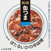 K&K 缶つま 国産 ほたるいかの辛味噌 90g