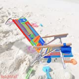 High Back Aluminum Rio Beach Chair - 5 position LayFlat - Set of 2 Chairs