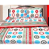 Cosmosgalaxy Cotton Double Bedsheet With Pillow Covers - Queen Size, Multicolor - B00SWKO72M