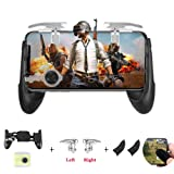 Newseego Mobile Game Controller, Mobile Phone Controller for Shooter Sensitive and Aim Trigger Controller Gamepad with L1R1 Trigger and Anti-Sweat Finger Sleeve for Android & iOS/Knives Out (Color: Black)