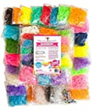 7200 Band MEGA Rainbow Braid Loom Refill Set - US Lab Tested Free of Toxins - 24 Colors, 35 Charms & 500 Clips - Brightest Colors Including Glitter, Glow in the Dark & Metallic - Limited Edition