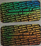 1000 Security Seal Hologram silver Tamper Evident Warranty Labels Stickers 15mm x 30mm- Dealimax Brand