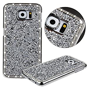 Note 5 Case, Galaxy Note 5 Case, Surprise Panda TM Luxury Bling Glitter Handcraft Handmade Crystal Rhinestone Diamond Hard Case Skin Cover for Samsung Galaxy Note 5 (Silver, Galaxy Note 5)