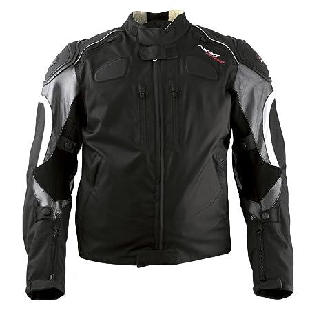 Roleff Racewear 3263 Blouson Moto Textile Sports, Noir/Argent, M
