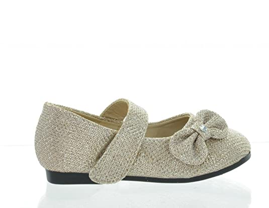Dream Pairs ANGEL-5 Adorable Mary Jane Side Bow Velcro Strap Ballerina Flat (Toddler/