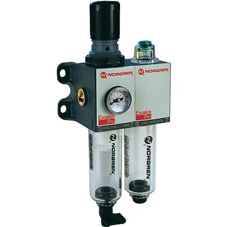 Filtro regulador y lubricante 10 a 0,3 µm, 5 bar filtro Norgren BL92-235 g