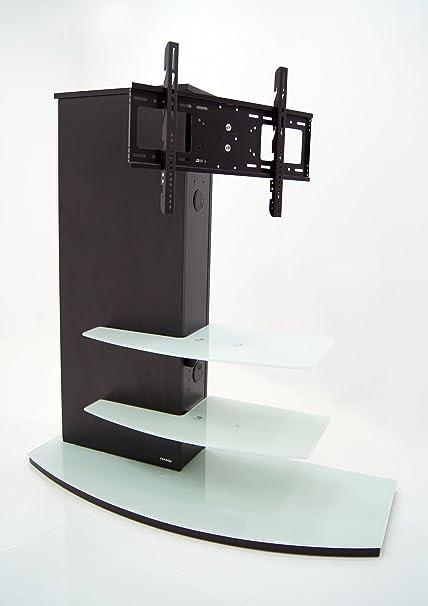 Plasma/LCD TV Rack Almeria -Schwarz / Weissglas