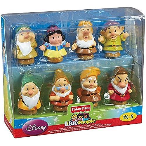 디즈니(Disney)USA상품 백설 공주와 일곱 난쟁이와 7명의 소사람들 프린세스 피규어 장식품 장난감 인형 휘셔 프라이스 장난감 [병행수입품]-1688950394_multinone