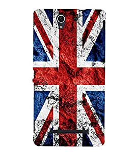 UK Flag 3D Hard Polycarbonate Designer Back Case Cover for Sony Xperia C3 Dual :: Sony Xperia C3 Dual D2502