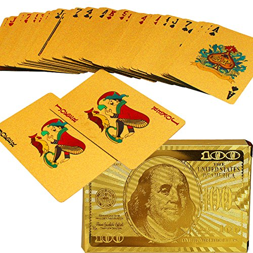 Why Choose SandiaSummer 24K Gold Foil Plated Playing Cards 100 Dollar Full Poker Deck Gift