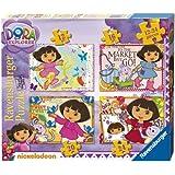 Ravensburger Dora la exploradora - Set de 4 puzzles (12, 16, 20 y 24 piezas)