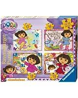Dora l'Exploratrice - 4 Puzzles dans 1 Boite