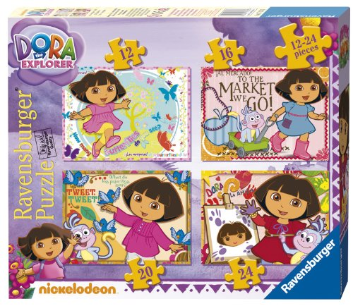 Ravensburger Dora The Explorer 4 In A Box Jigsaw Puzzles