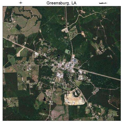 Aerial Photography Map of Greensburg, Louisiana