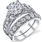 Solid Sterling Silver 925 Engagement...