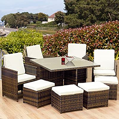 Oseasons 8 Seater Cube Garden Patio Furniture Set