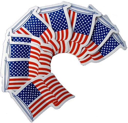Fourth of July, United States American Flag Souvenir Stickers - Set Of 25 [Toy]4th of july