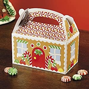 Dozen Gingerbread Cardboard Treat Boxes