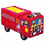 Unique 3D Fire Engine Pinata, Assorted Colors