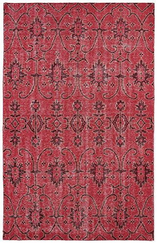 Kaleen Rugs Restoration Collection RES01-25 Red Hand-Knotted 8' x 10' Rug