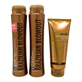 Brazilian Blowout Anti Frizz Shampoo and Conditioner Duo 12 Ounce and Smoothing Serum 8 Ounce (Tamaño: Maintenance Set)