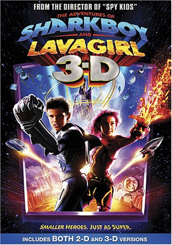 Cover art for  The Adventures of Sharkboy and Lavagirl in 3-D also includes 2d version