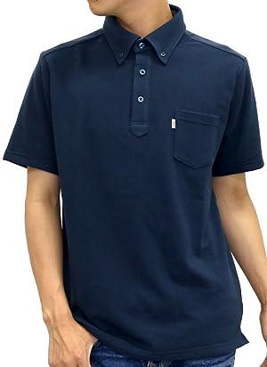 EDWIN(エドウィン) ポロシャツ 無地 ボタンダウン メンズ