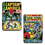 Marvel 'Captain America Weakest Link' Rectangular MDF Fridge Magnet (7.5 cm x 10 cm, Set of 2)