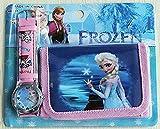 Disney-Frozen-Childrens-Watch-and-WalletPurse-Set-Elsa