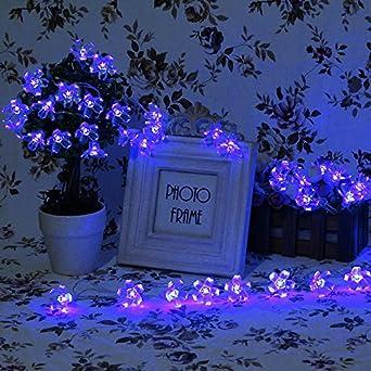 InnooTech 4M 【 Guirlande Guirlande lumineuse  Piles 40 LED fleurs