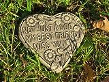 Dog memory heart stone garden ornament