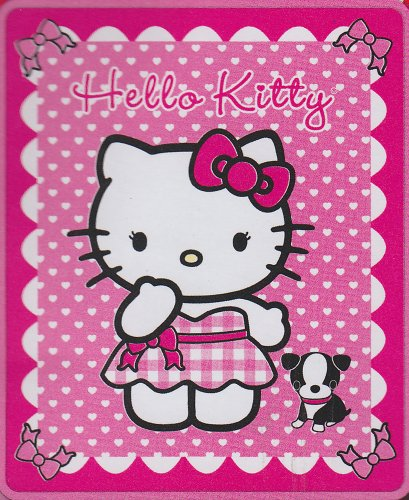 Hello Kitty With Puppy Fleece Throw