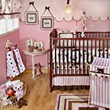 My Baby Sam Baby Love 4 Piece Crib Bedding Set, Pink