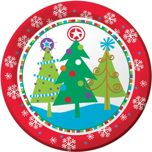 "Creative Converting 9"" North Pole Greetings Plate 8/per pack - 1"