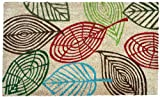 J & M Home Fashions Vinyl Back Coco Doormat, 18 by 30-Inch, Leaves Multi