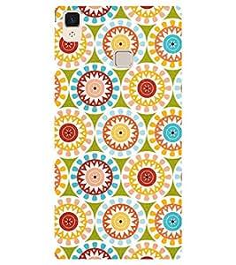 Chiraiyaa Designer Printed Premium Back Cover Case for Vivo V3 (flower pattern colorful) (Multicolor)
