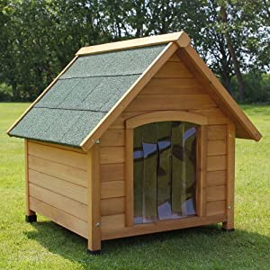Medium luxury outdoor dog kennel pet house with waterproof entrance and apex roof - Luxury outdoor dog houses ...