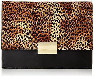Vince Camuto Caleb Clutch,Black/Leopard,One Size