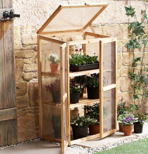Leisure Season Mini Greenhouse, Solid Wood, Decay Resistant (Mini Storage Shed compare prices)
