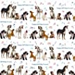 "Mixed Dogs ""Dog Song"" Gift Wrap & Tags (2+2)"