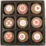 Valentines Day Gift Box of 9 Milk Chocolate Oreo Cookies Xoxo